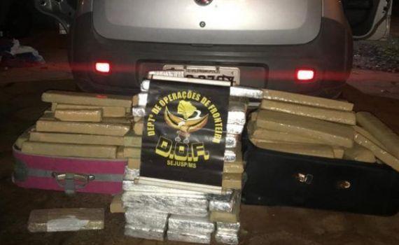 DOF prende casal transportando droga em Paranhos