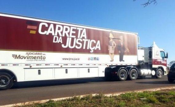 Carreta da Justiça atendeu a comarca de Rochedo esta semana