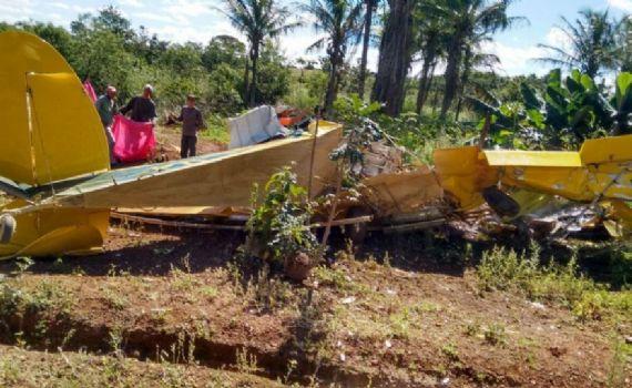 Duas pessoas morrem em queda de avião em Aral Moreira
