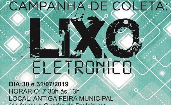 Prefeitura de Caarapó promove coleta de lixo eletrônico