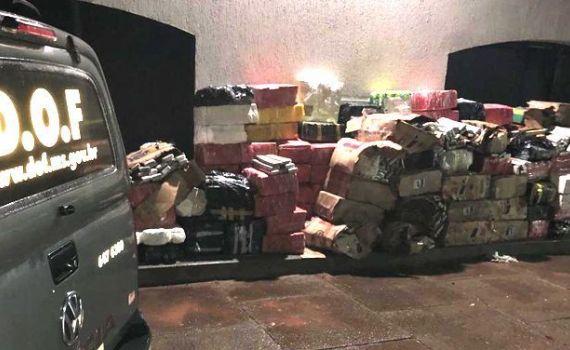 DOF apreende Motor Home carregado com mais de quatro toneladas de entorpecente