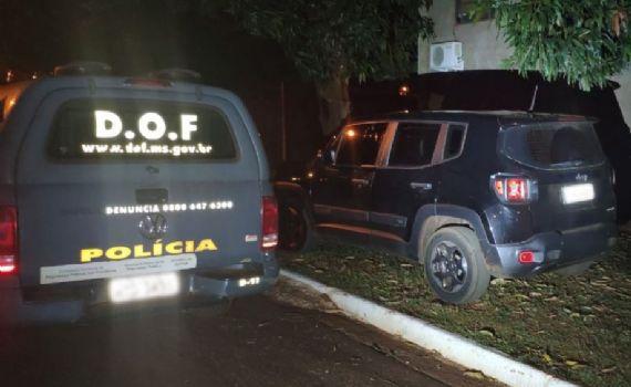 Durante abordagem, polícia apreende carro clorado em Laguna Carapã