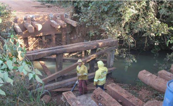 Ponte do Córrego da Divisa passou por obras de manutenção