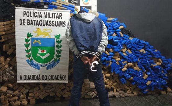 PM de Bataguassu apreende 980 kg de maconha