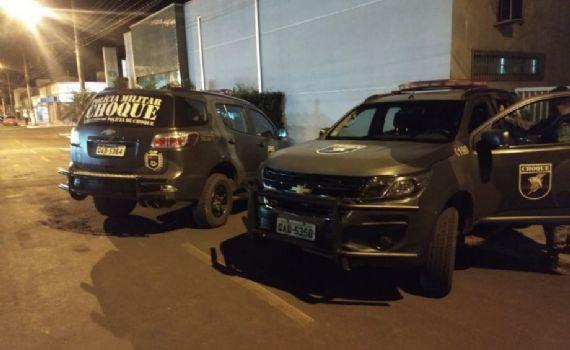 Choque impede furto a agência bancária de Sidrolândia e 3 são presos