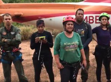 Grupo saiu da trilha por causa de fogo na Chapada dos Veadeiros