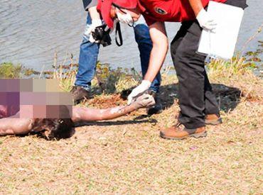 Banhistas encontram corpo de mulher em lagoa  de chácara